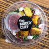 the moody chef catering corn fritter salad