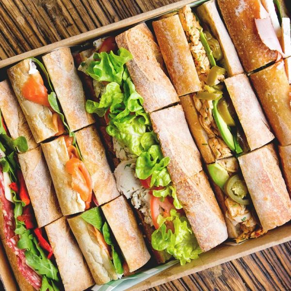 the moody chef catering baguette box