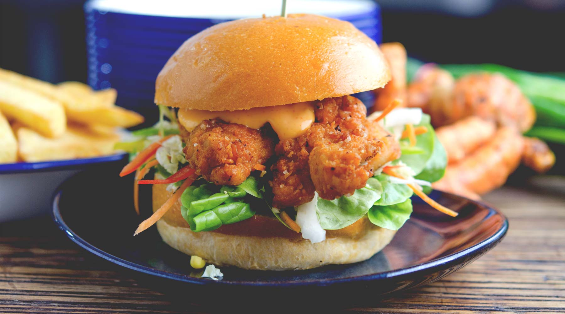 the moody chef chicken burger