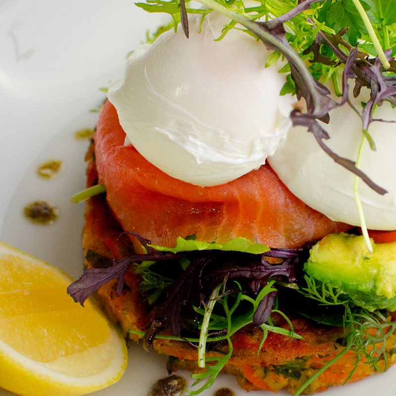 Saturdays leisurely pace Poached eggs on salmon